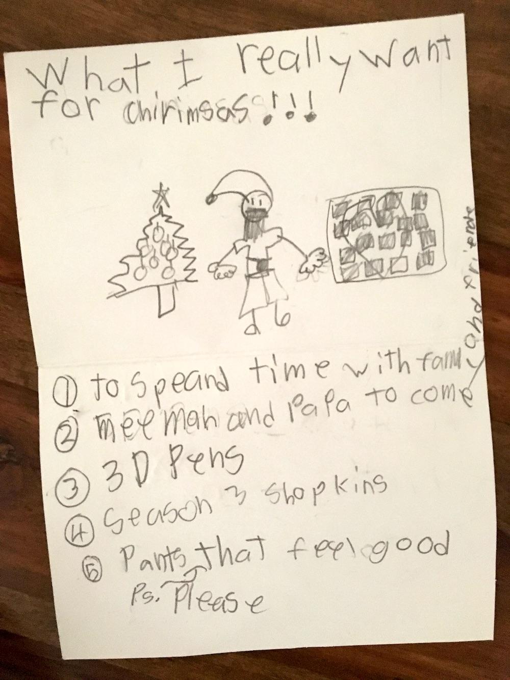 Scarlet's Christmas List 2015