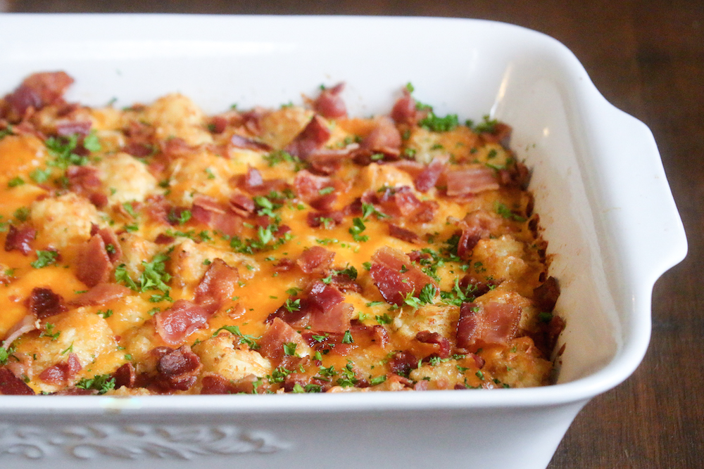 Tater Tot Bacon HotDish