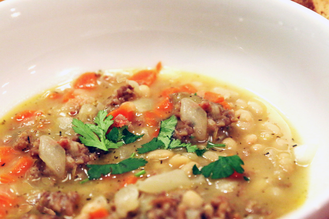 Tuscan White Bean and Sausage Soup