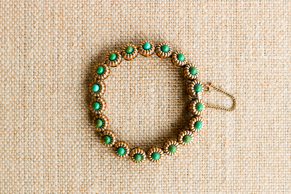 Vintage Turquoise and Gold Bracelet