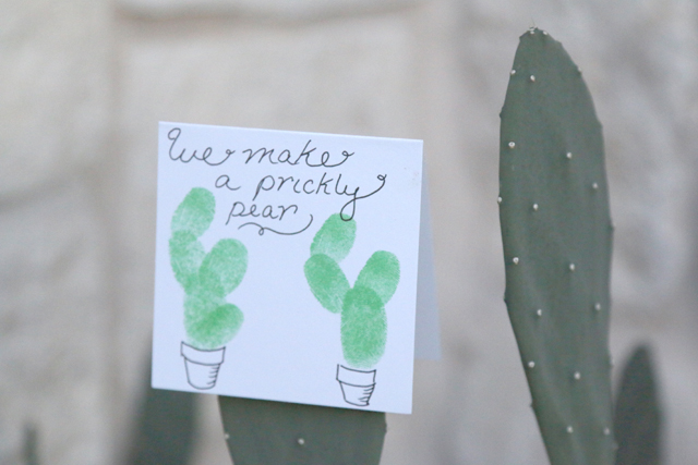 Fingerprint Cactus Valentine Easy DIY Valentines Day