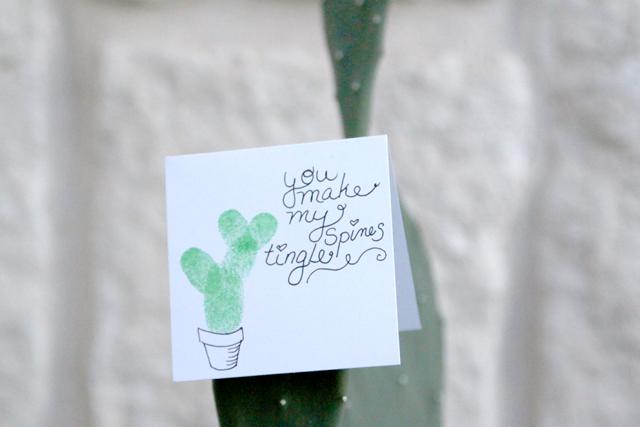 DIY cactus valentine