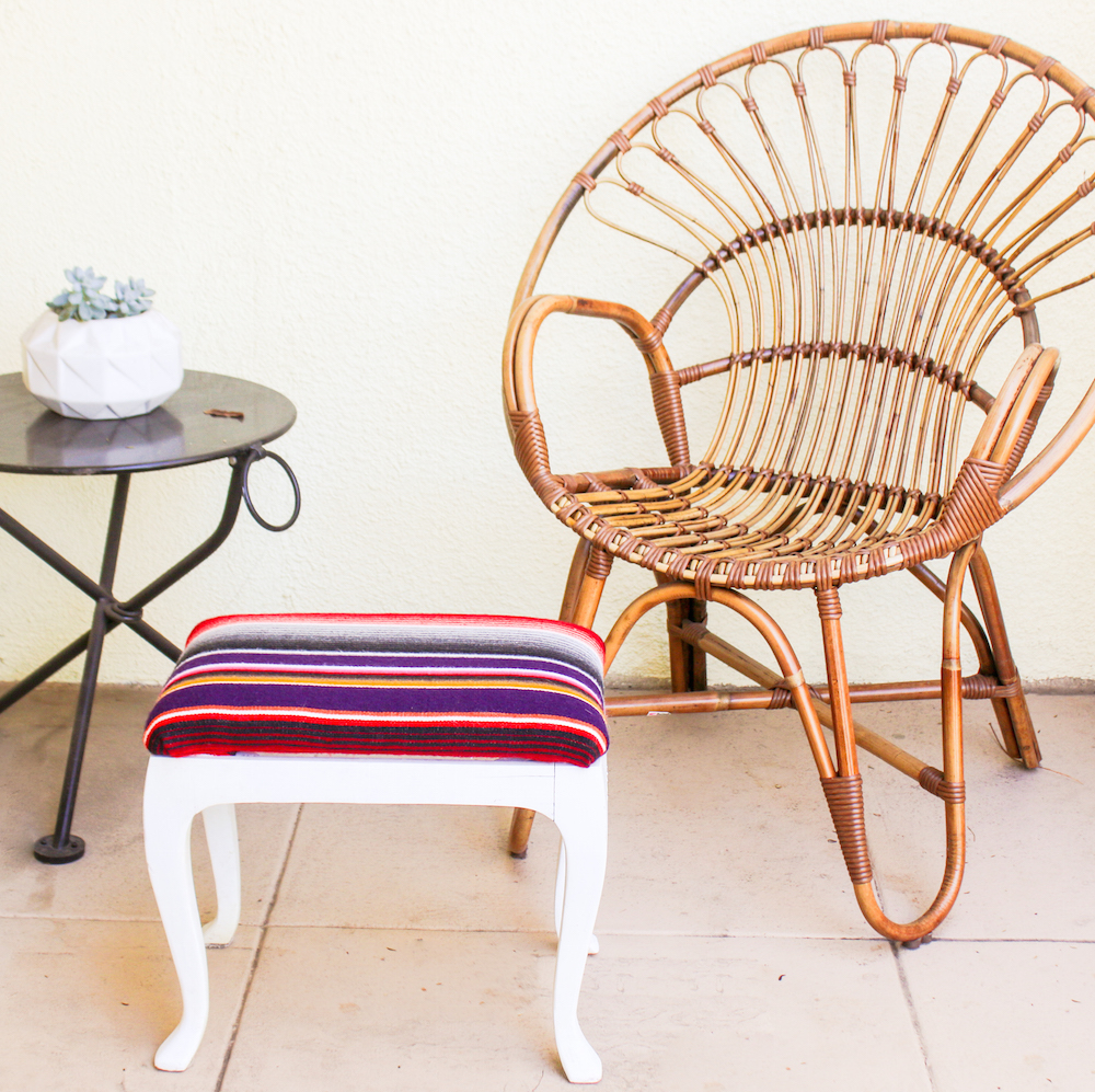 DIY Serape Stool