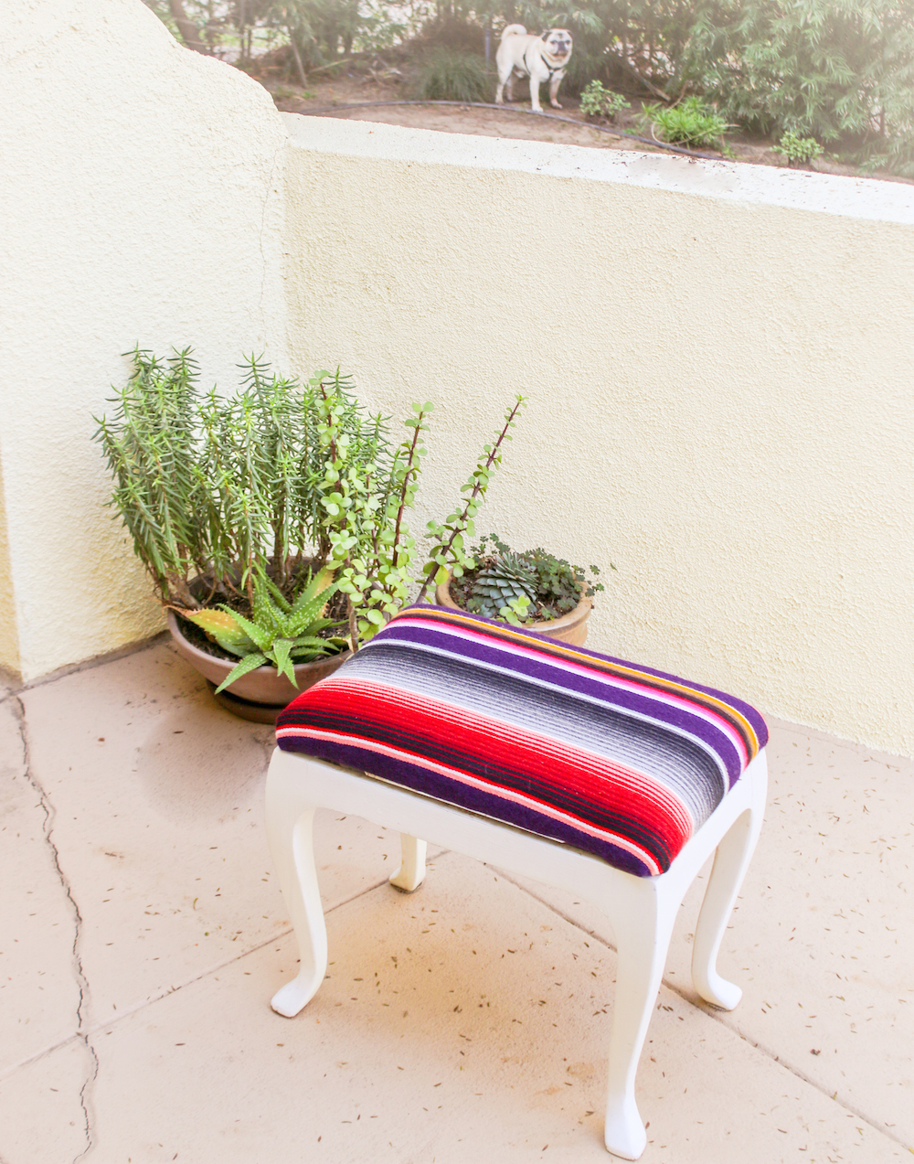 Serape Stool DIY