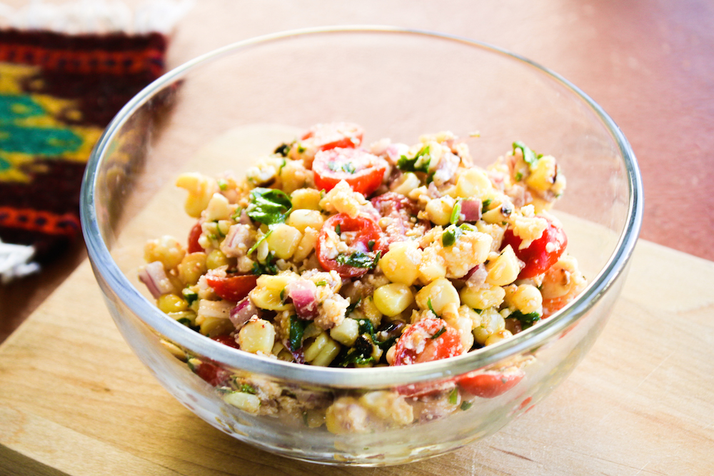 The Best Grilled Corn Salad Recipe