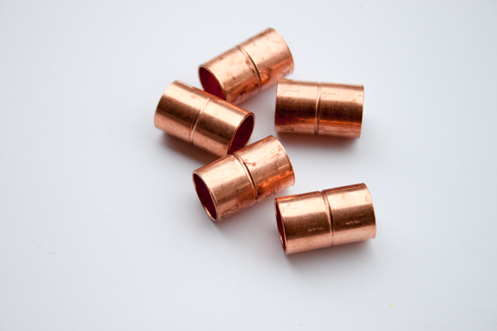 Copper Pipe Fittings for Decor