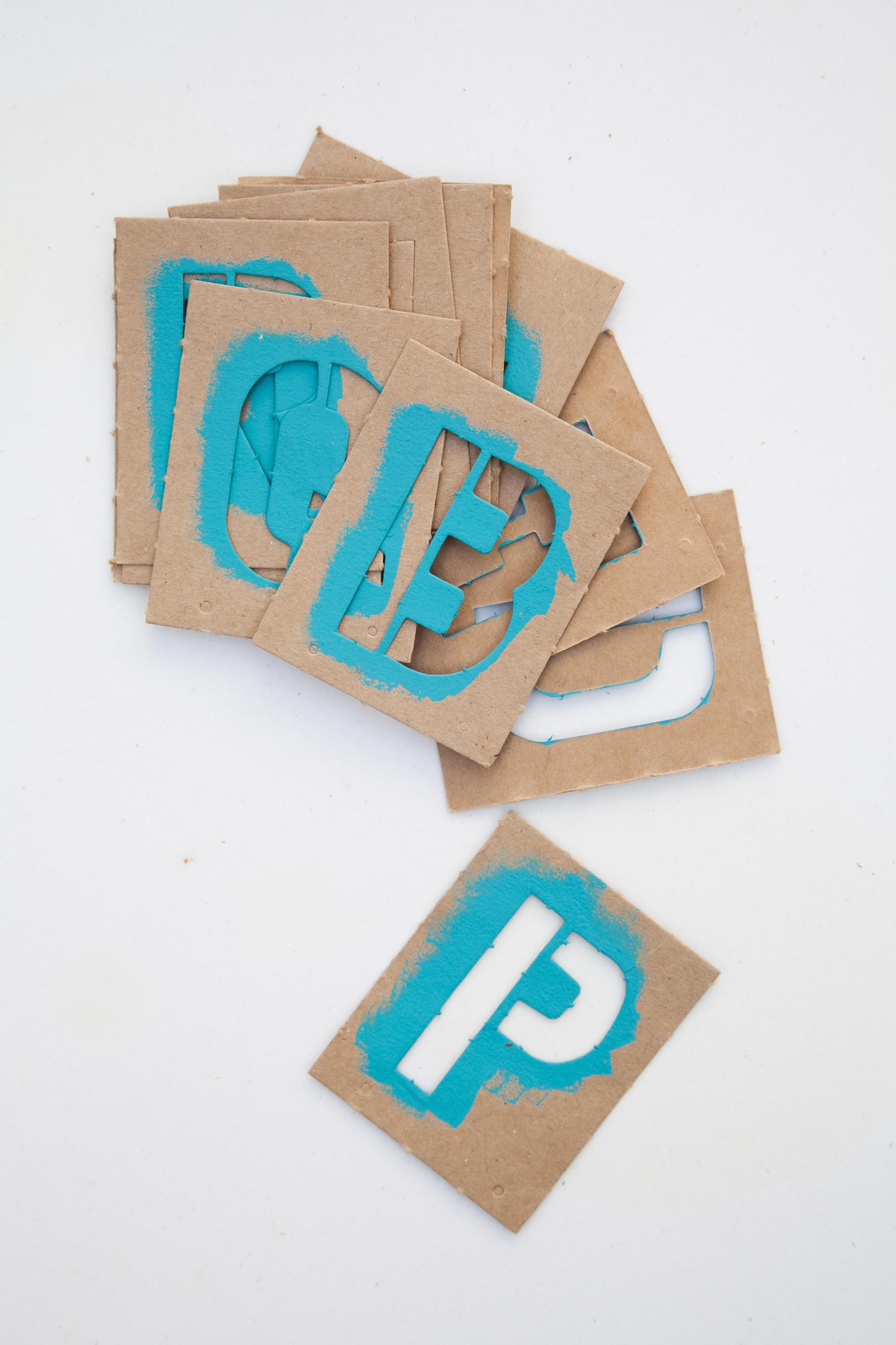 Hardware Store Letter Stencils