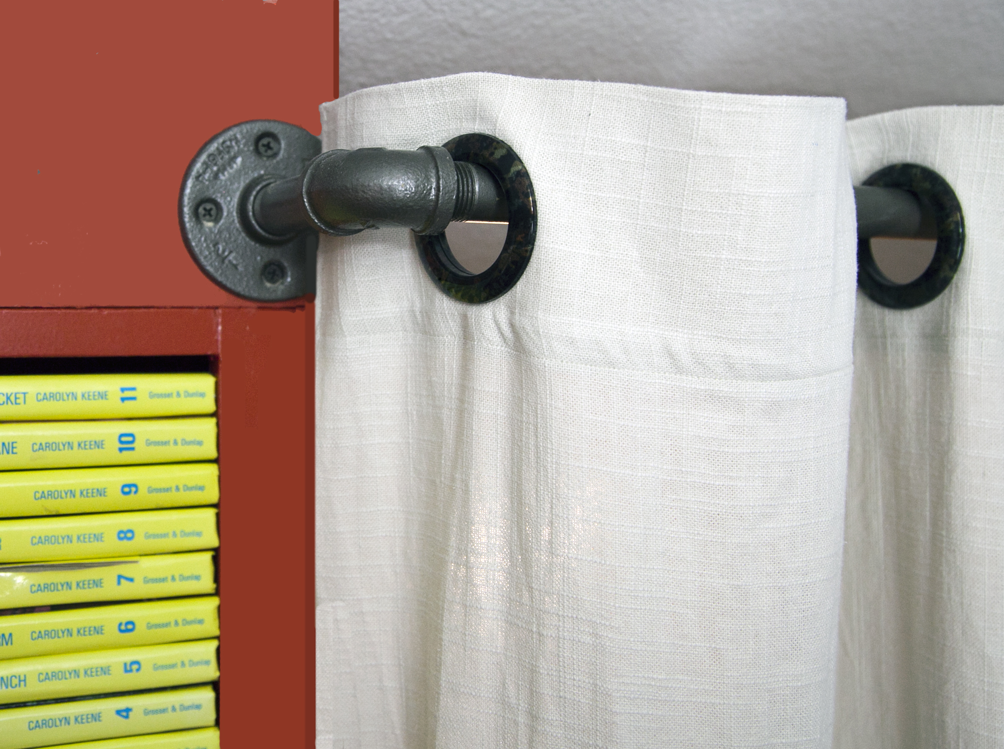 DIY Pipe Curtain Rods
