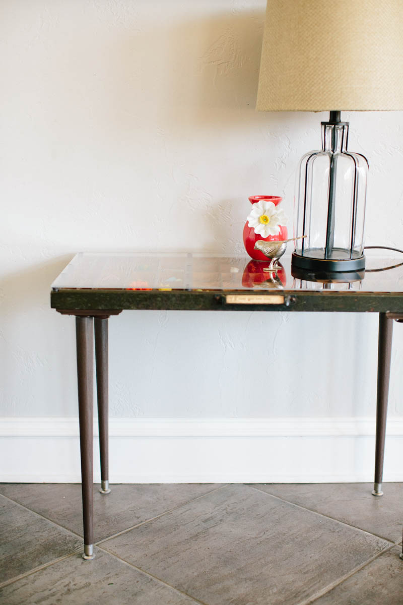 DIY Letterpress Tray Table