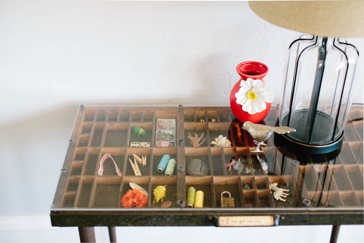 DIY Letterpress Tray Table Top