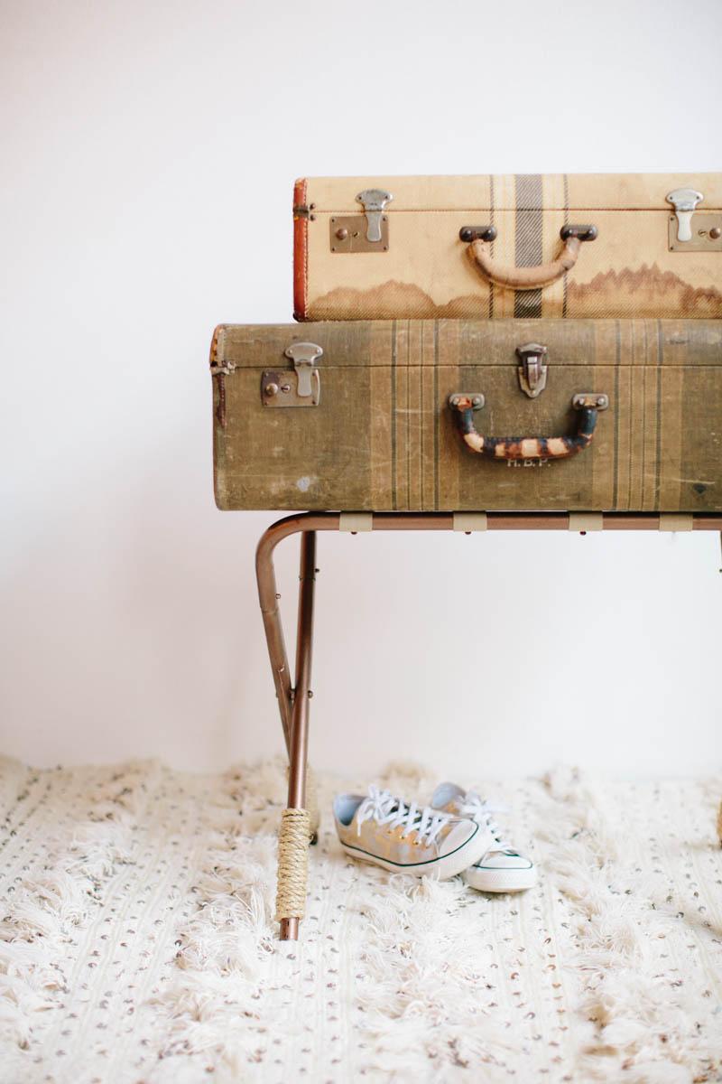 DIY Luggage Stand