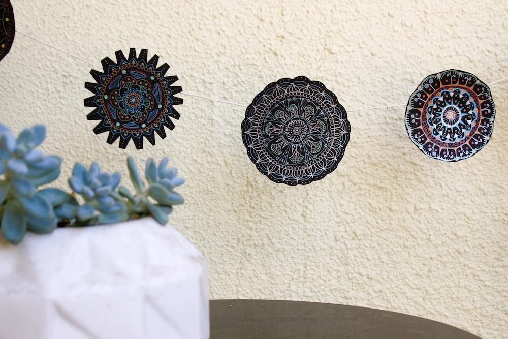 Gel Pen Mandala Succulent 2