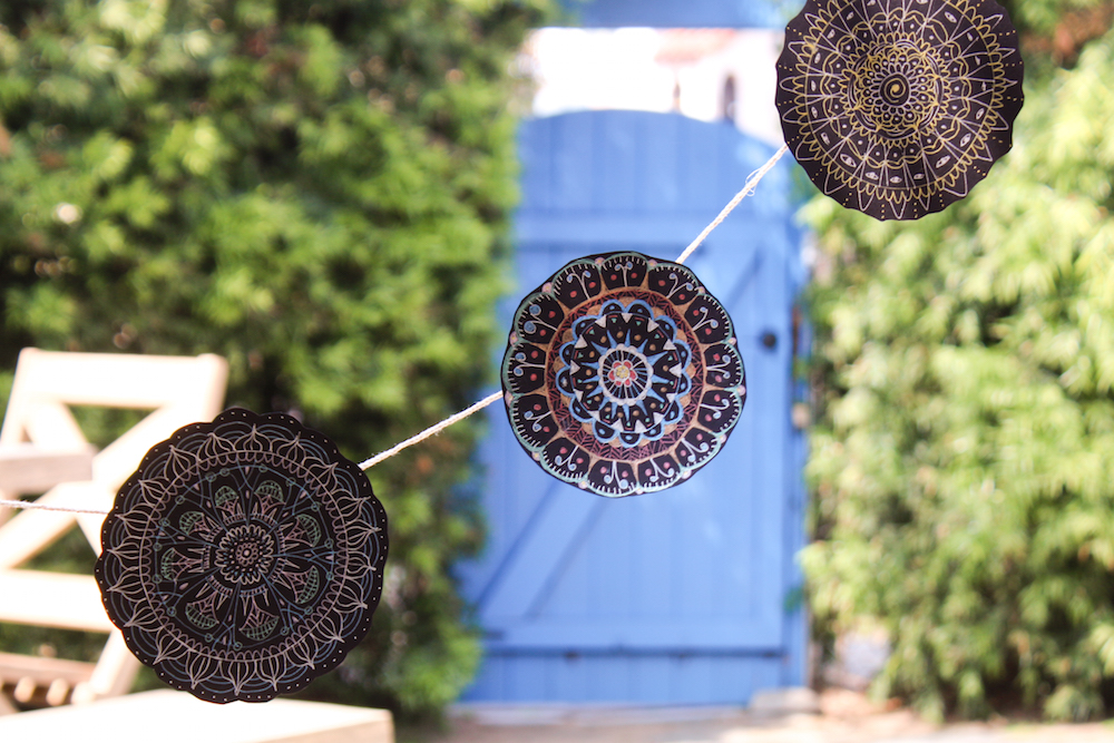 Gel Pen Mandala Garland