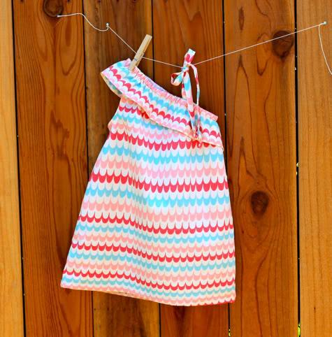 One Shoulder Dressy Dress DIY