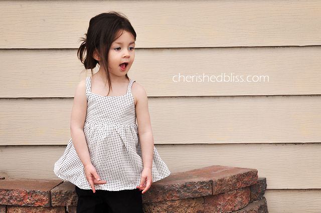 Peekaboo Toddler Tank