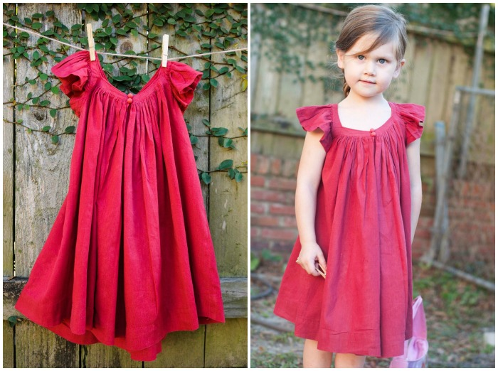 Summer Frock with Gathered Neckline