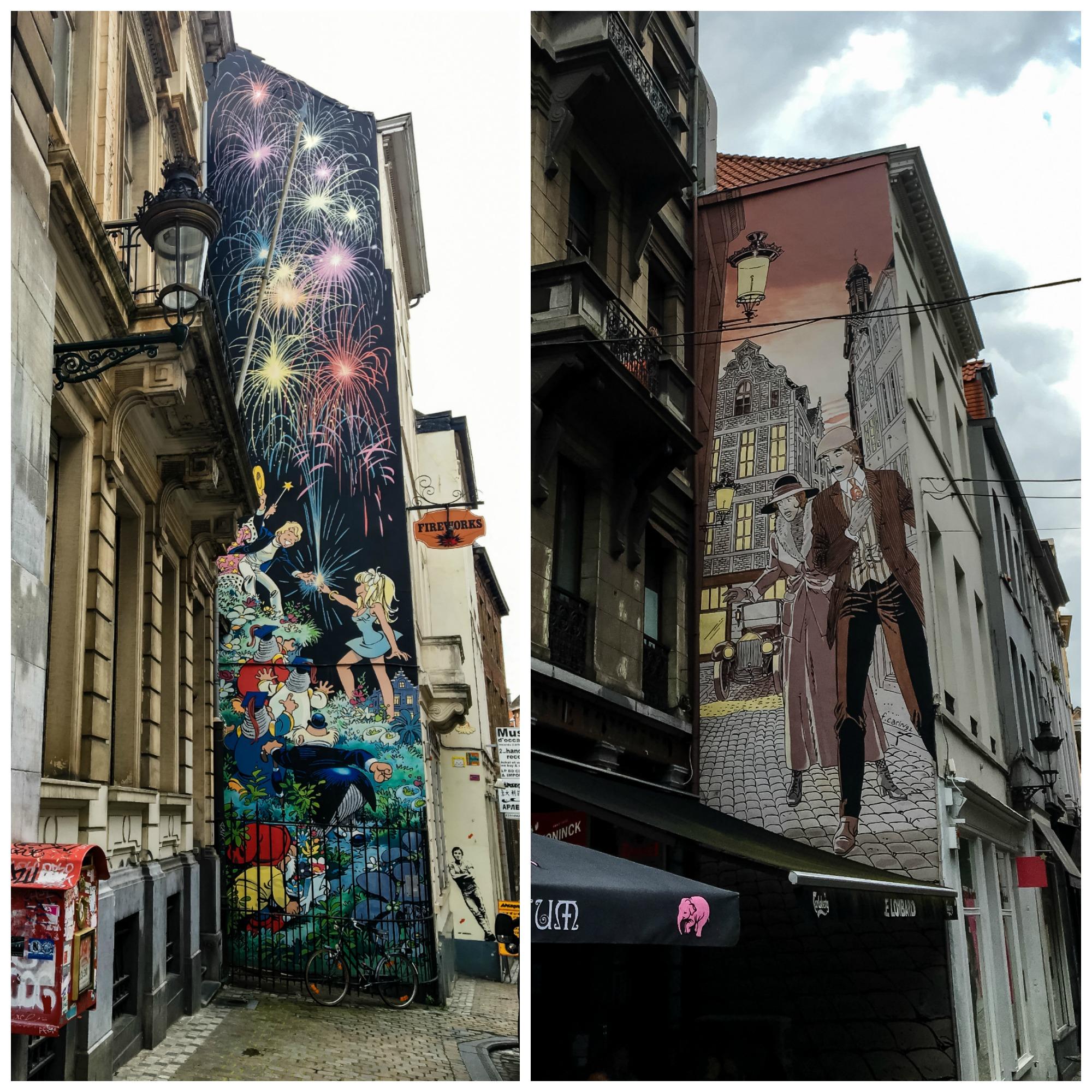 Brussels Comic Murals