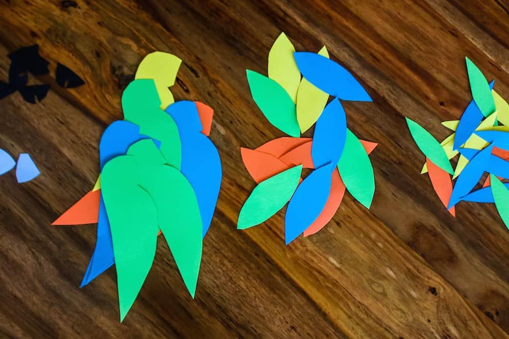 Wild Parrot Garland Step 2