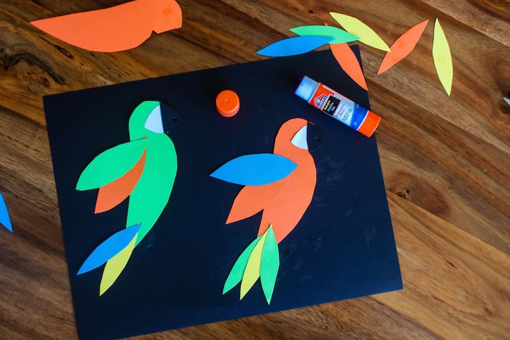 Wild Parrot Garland Step 3