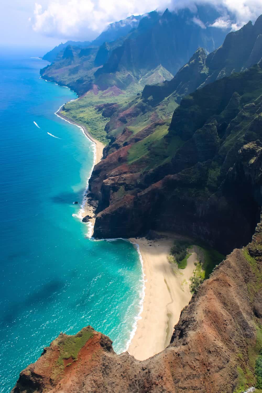 Napali Coast from Helicopter Kauai
