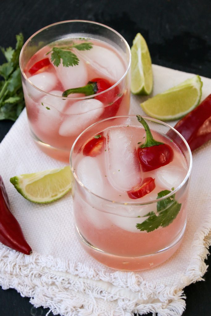 Spicy Watermelon Mezcal Holiday Cocktail Recipe