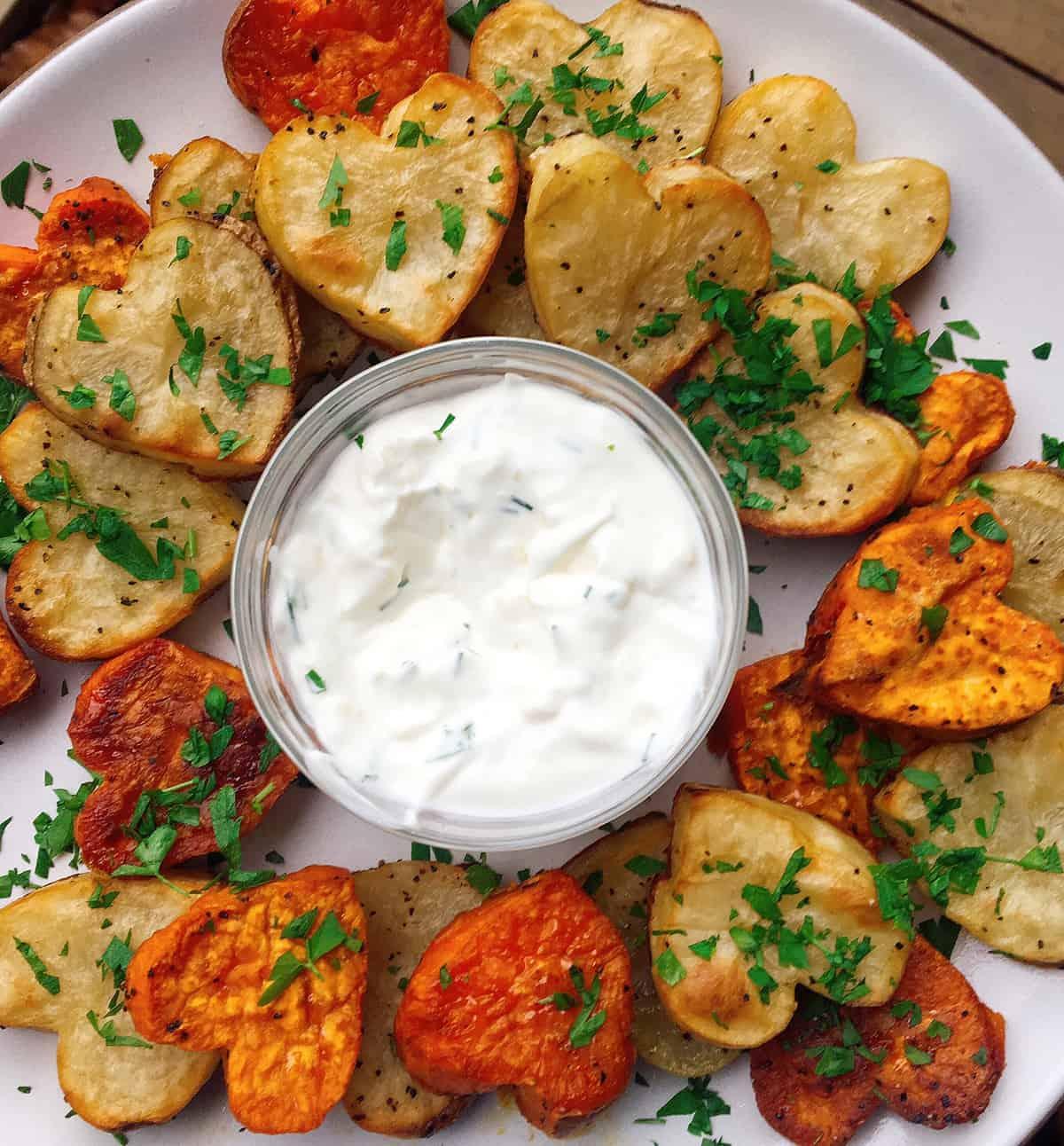 Roasted Potato Hearts Recipe