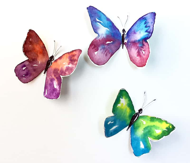 how to paint watercolor butterflies