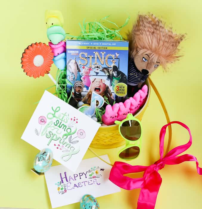 SING Blu-Ray + DVD Easter Basket and Printable!