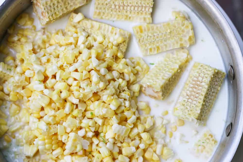 Elote Corn Popsicle Ingredients