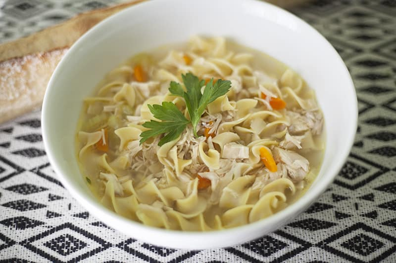 Instant Pot Chicken Broth + Chicken Noodle Soup