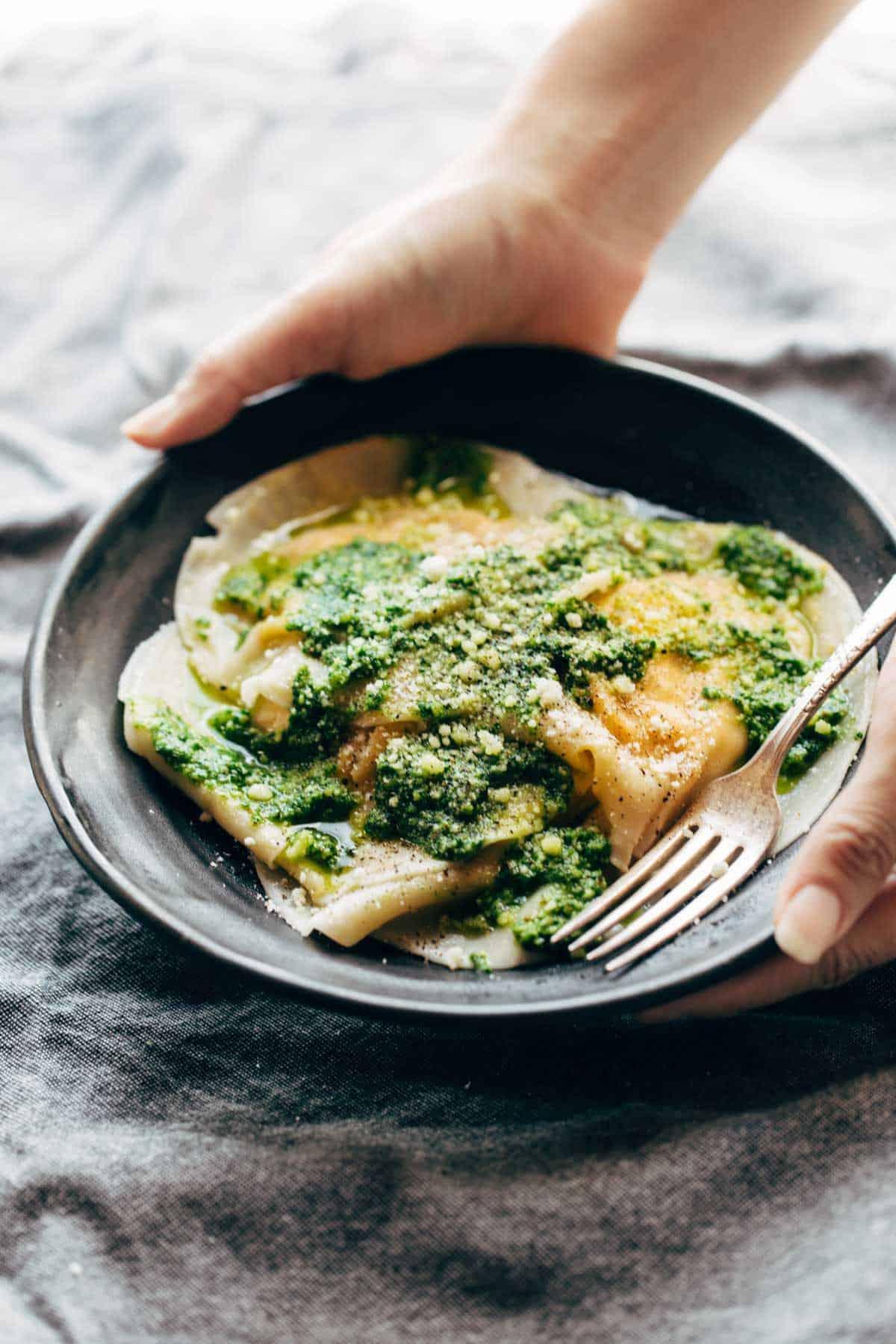 butternut squash-ravioli