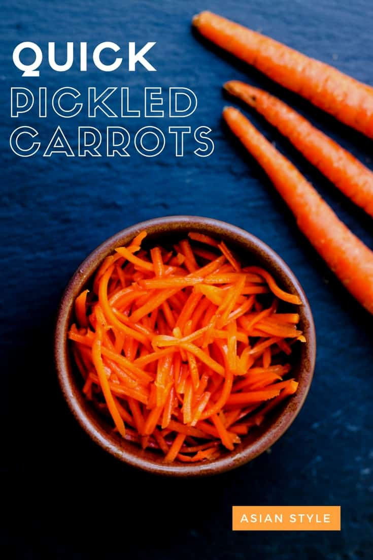 Easy Asian Quick Pickled Carrots Recipe