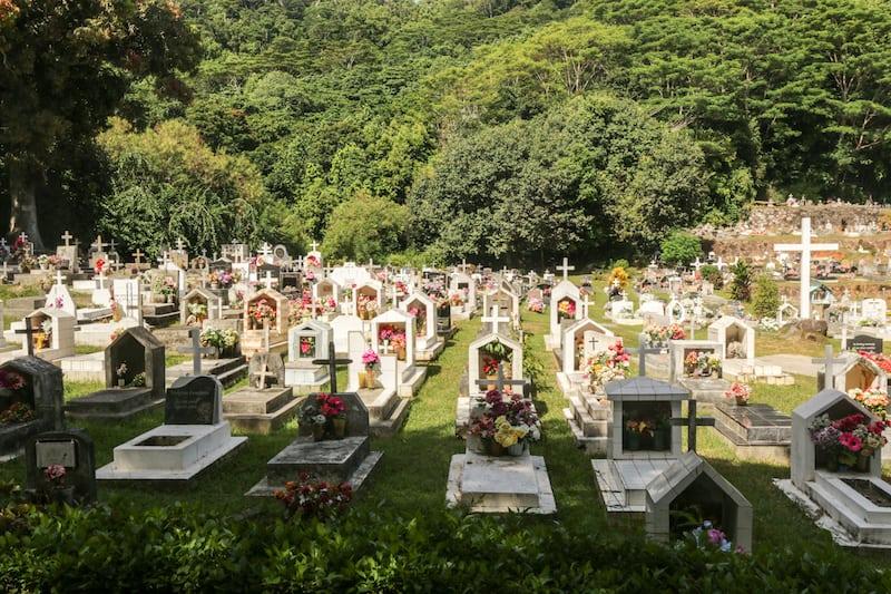 Seychelles Le Digue Cemetery