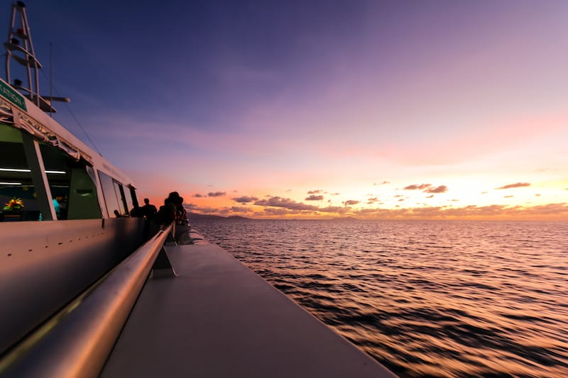 Image of Seychelles Le Digue Sunset from the Ferry