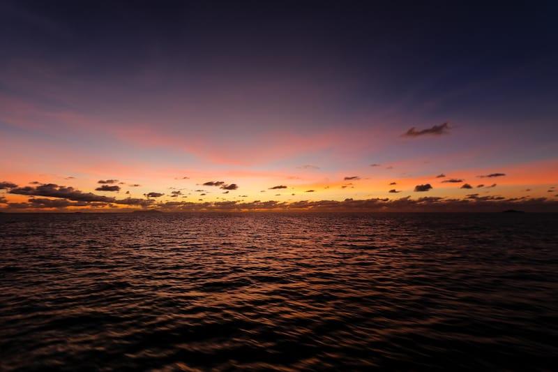 Seychelles Le Digue Sunset_