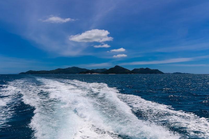 Seychelles Praslin From Sea