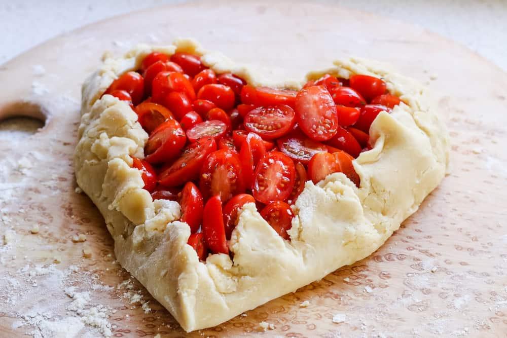 Heart Shaped Tomato Galette Recipe
