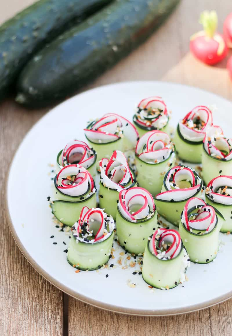Cucumber Roll Up Recipe- An Everything But the Bagel Seasoning Recipe 8