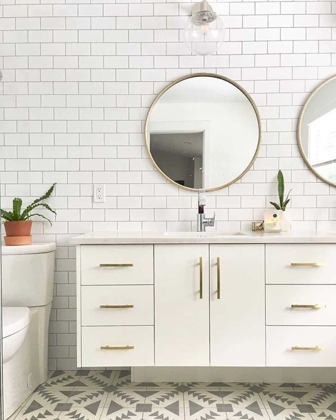 mid century modern bathroom Mid Century Modern Bathroom Remodel Inspiration | Pretty Prudent mid century modern bathroom
