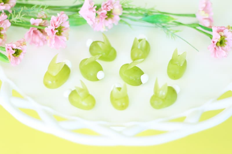 how to make grape bunnies for easter