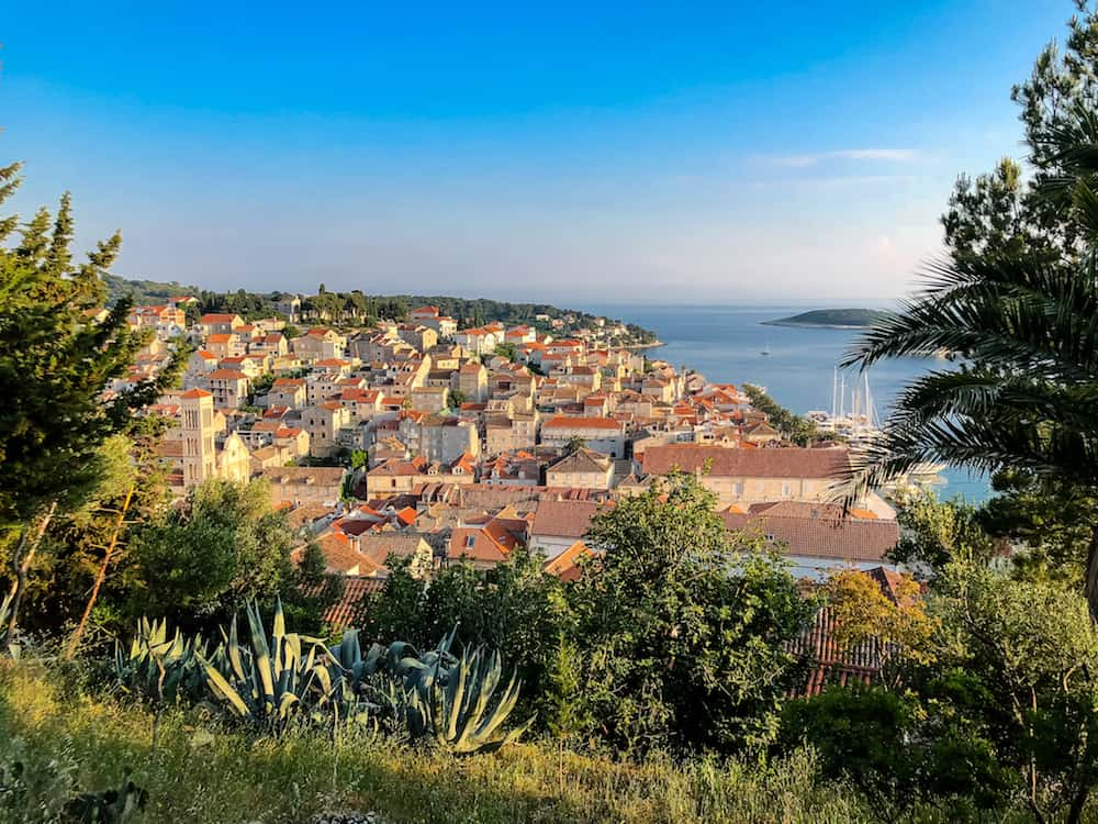 Image of Hvar from the Fortress
