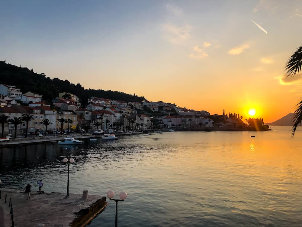 Image of a Korcula Sunset