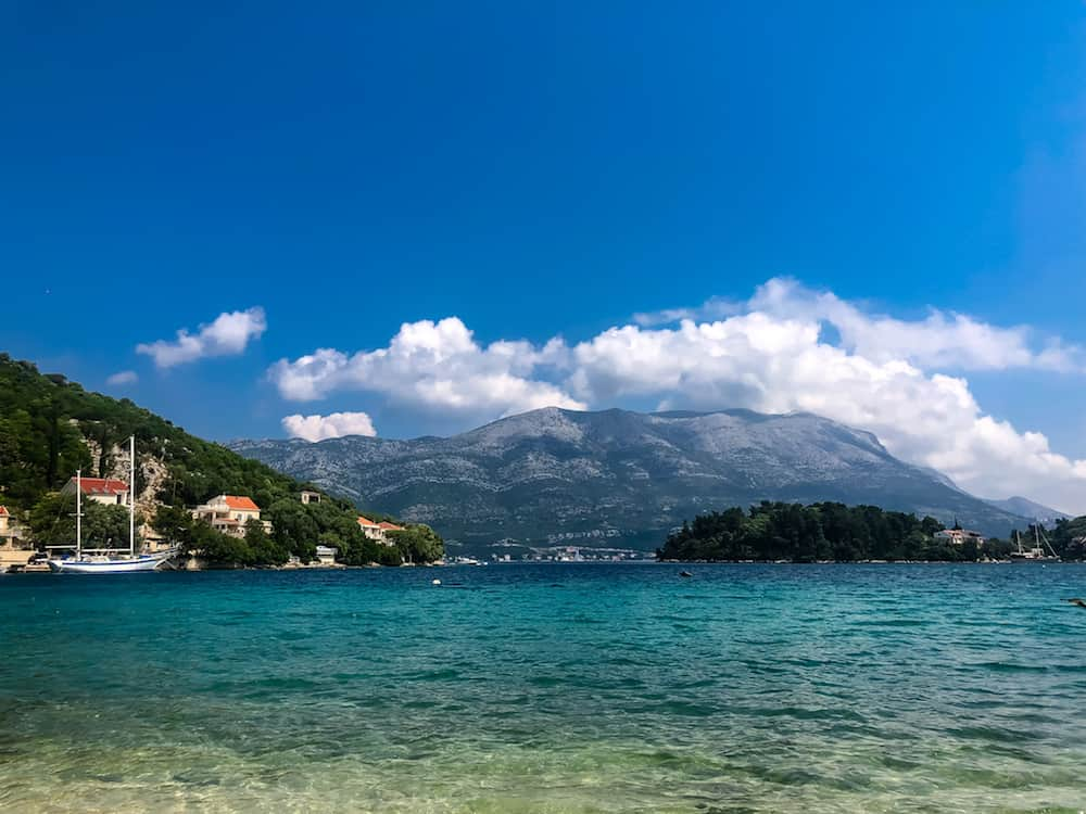 Image of the view from Tara's Lodge on Korcula, Croatia
