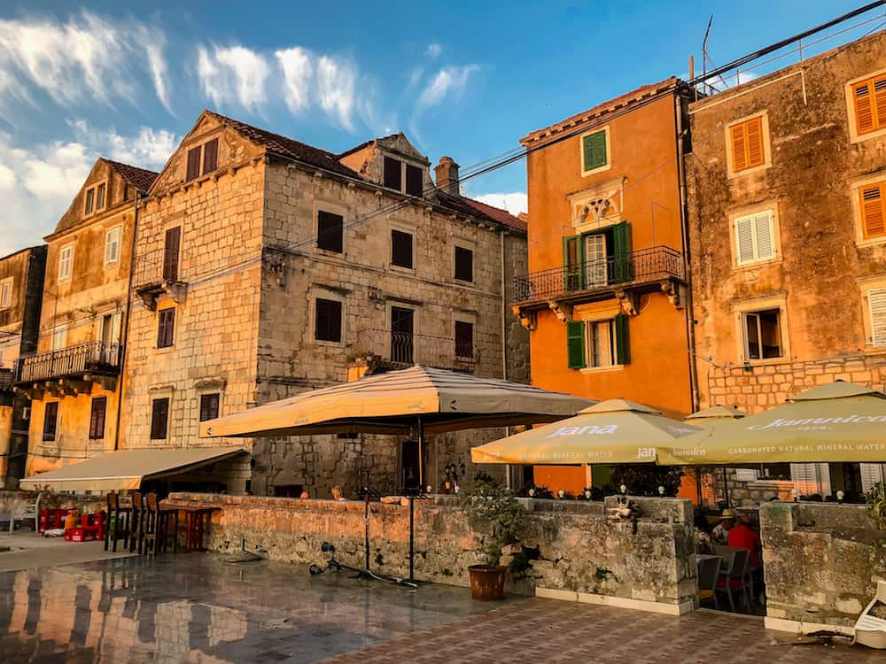 Image of Korcula Town at Sunset