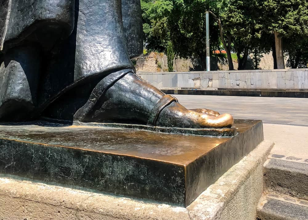 Image of the lucky toe of Gregory of Nin in Split, Croatia