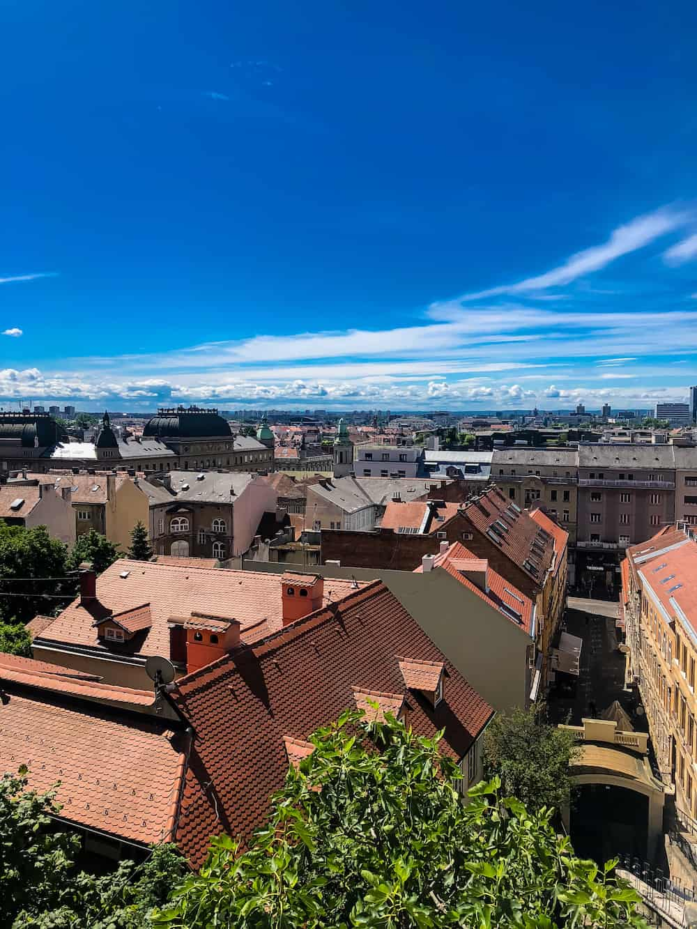 Image of Zagreb city view