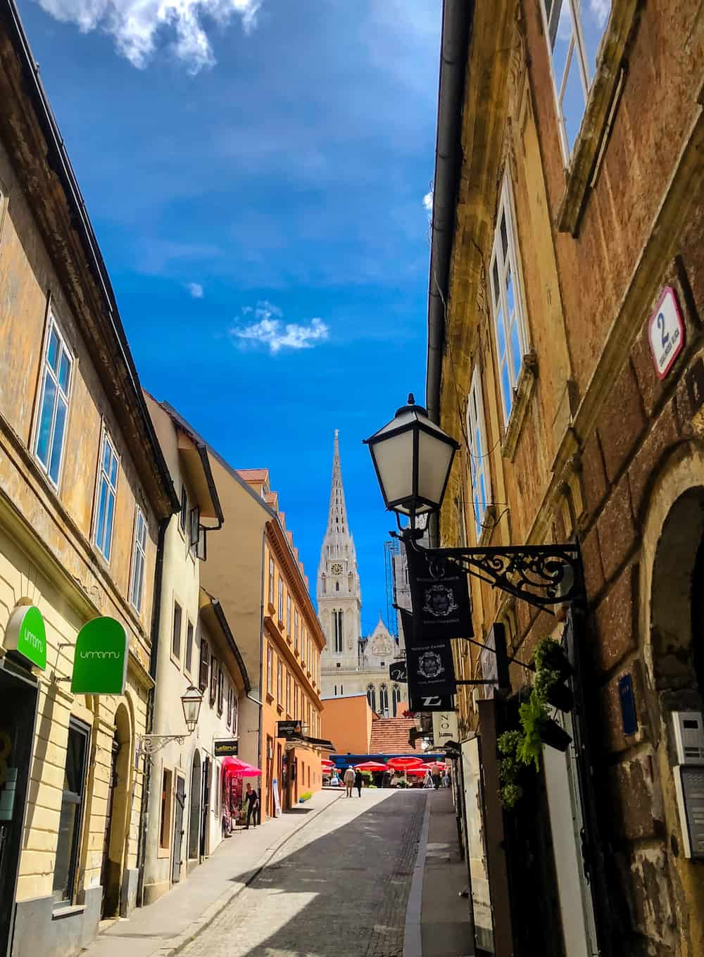 Image of Zagreb streets cathedral view