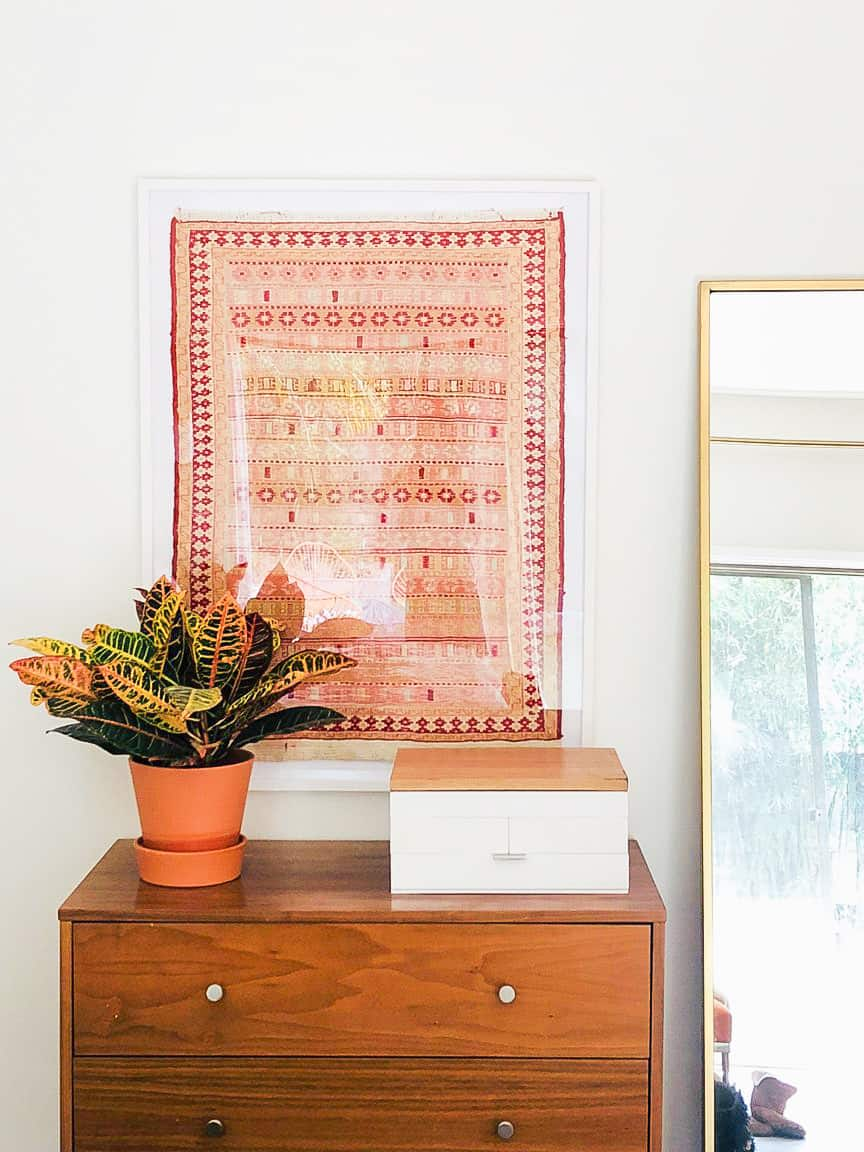 Image of a framed rug