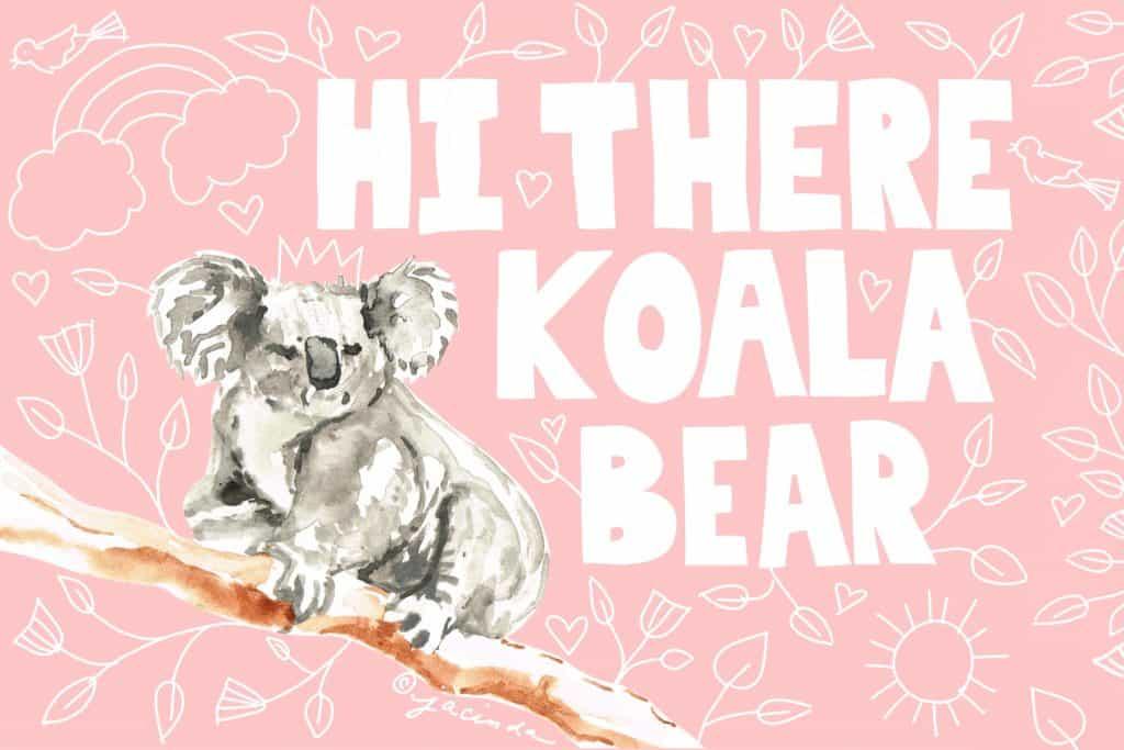 Free Koala Printable for Valentine's Day