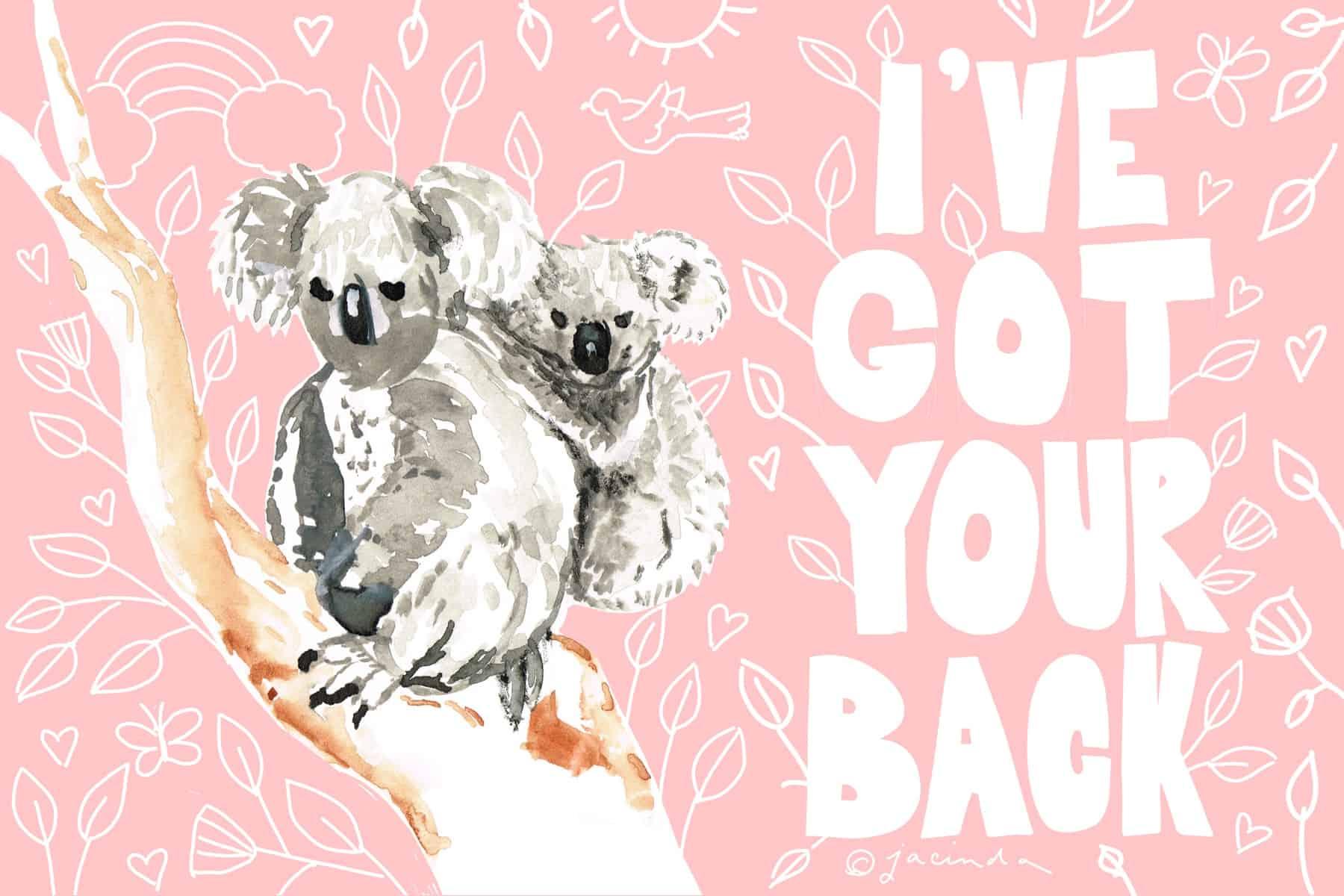 free koala art